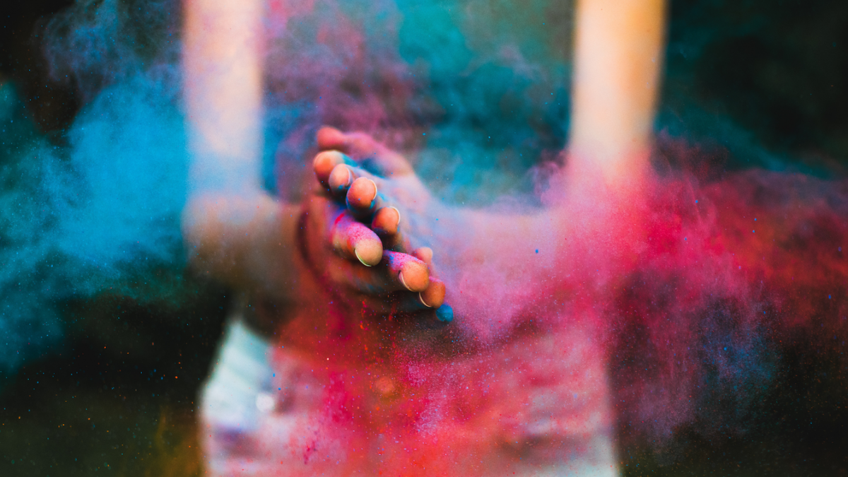 Holi - Color on Hands